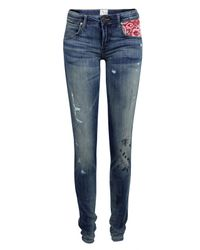 PRPS | Blue P55p04 Super Skinny Handkerchief Jeans | Lyst