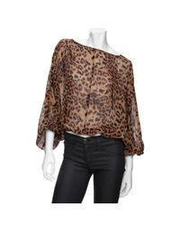 Rachel Zoe | Multicolor Silk Cropped Dolman Sleeve Blouse | Lyst