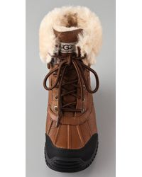 UGG - Brown Adirondack Lace Up Boot Otter Leather - Lyst