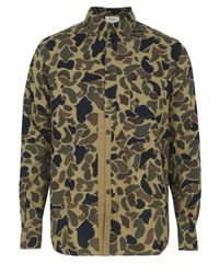 YMC | Green P2a16 Placket Camel Camo Shirt for Men | Lyst