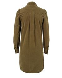 YMC | Brown Q1am6 Tie Detail Tobacco Shirt Dress | Lyst