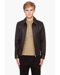 A.P.C. - Brown Blouson Moto Jacket for Men - Lyst