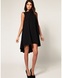 ASOS Collection - Natural Asos Swing Dress with Dipped Hem - Lyst