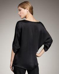 VINCE | Envelope Silk Blouse, Black | Lyst