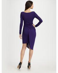 BCBGMAXAZRIA | Purple Sosie Draped Dress | Lyst