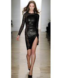 Kevork Kiledjian - Black Cutout Dress with Lace - Lyst