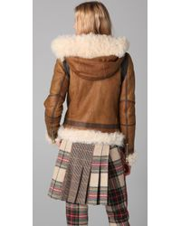 Rag & Bone - Brown Preorder Shoreditch Shearling Jacket - Lyst