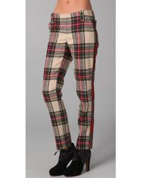 Rag & Bone   Brown Moto Pants with Removable Kilt   Lyst