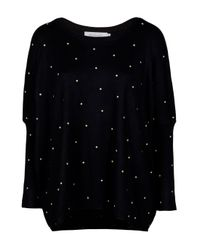 T-bags - Black Studded Top - Lyst