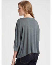 Wildfox - Gray Warm Heart Scoopneck T-shirt - Lyst