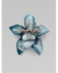 Alexis Bittar | Blue Small Orchid Pin | Lyst