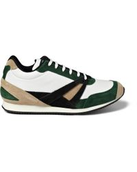 Balenciaga | Green Paneled Leather High Top Sneakers for Men | Lyst