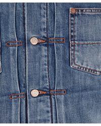 Edwin - Blue Vintage Wash Cord Collar Denim Work Jacket for Men - Lyst