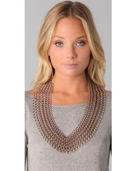Luv Aj - Metallic Chainmaille Bib Necklace - Lyst