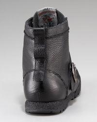 True Religion - Black Ricky Leather Hi-top Sneaker for Men - Lyst