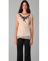 Chris Benz | Natural Beaded Hayes Shell Top | Lyst