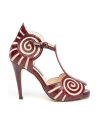 Chrissie Morris | Purple Liberty Sandal | Lyst