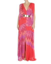 Matthew Williamson | Multicolor Harlequin Chiffon Sail Gown | Lyst