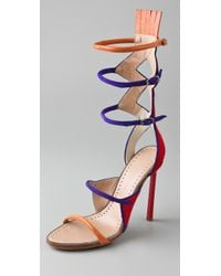 Proenza Schouler | Red Multi Color High Heel Sandals | Lyst