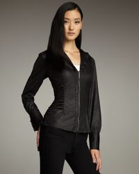 Royal Underground | Black Faux-leather Zip Top | Lyst