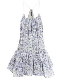 Theyskens' Theory | Blue Ital Dotta Floral Dress | Lyst