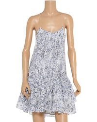 Theyskens' Theory | Blue Ital Dotta Floral Dress | Lyst