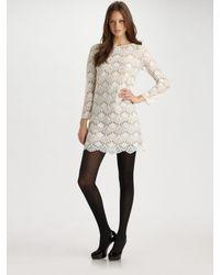 Tibi | White Lace Shift Dress | Lyst