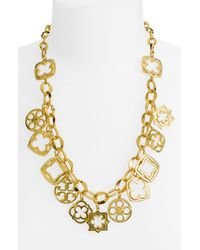 Tory Burch | Metallic Geo Star Charm Necklace | Lyst