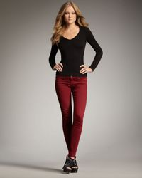 True Religion | Casey Legging Jeans, Redwood | Lyst