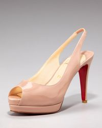 Christian Louboutin | Pink Cathay Patent Sling Back Pump | Lyst