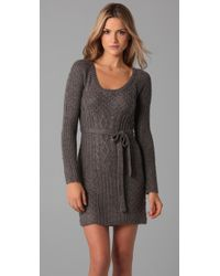 Ella Moss | Gray Evie Sweater Dress | Lyst