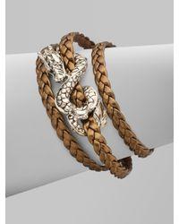 John Hardy - Metallic Sterling Silver and Leather Dragon Bracelet/bronze - Lyst