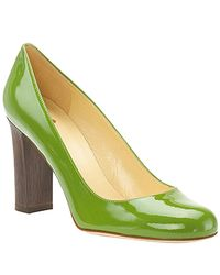 kate spade new york | Green Kami - Grass Patent Block Heel Pump | Lyst