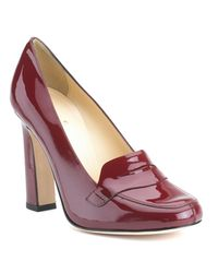 kate spade new york | Brown Jolene - Ruby Patent Leather Loafer Pump | Lyst