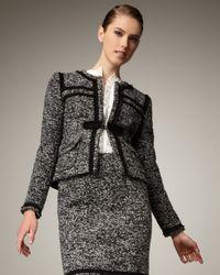 Nanette Lepore | Margherita Tweed Jacket, Black | Lyst