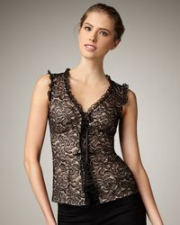 Nanette Lepore | Black Rich Bouquet Lace Top | Lyst