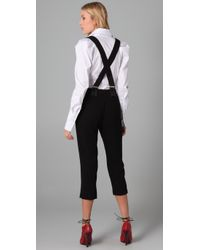 Opening Ceremony | Black Cropped Suspender Pants | Lyst