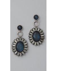 Rachel Leigh - Blue Adorned Statement Earrings - Lyst