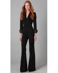 Rachel Zoe | Black Jerry Tuxedo Jumpsuit | Lyst
