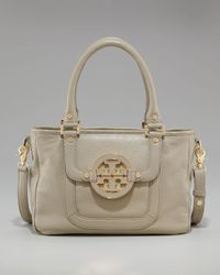 Tory Burch | Gray Amanda Mini Satchel | Lyst