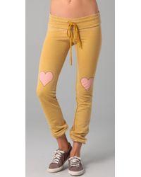 Wildfox | Orange Little Heart Skinny Malibu Sweat | Lyst