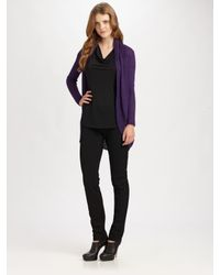 Eileen Fisher | Purple Alpaca Cardigan (plus) | Lyst