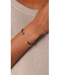 Giles & Brother - Metallic Skinny Railroad Spike Cuff - Lyst