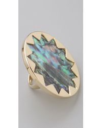 House of Harlow 1960 - Multicolor Abalone Sunburst Cocktail Ring - Lyst