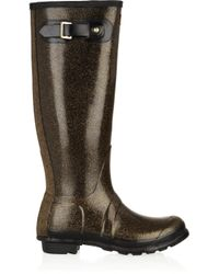 HUNTER - Metallic Original Tall Glitter Wellington Boots - Lyst