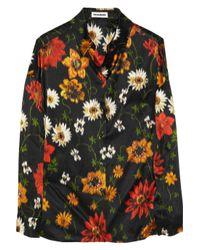 Jil Sander | Black Abstract Intarsia Knit Sweater | Lyst
