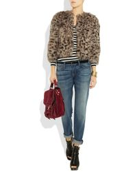 MICHAEL Michael Kors | Multicolor Animal-print Faux Fur Cropped Jacket | Lyst