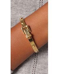 Michael Kors - Metallic Buckle Gold Bracelet - Lyst