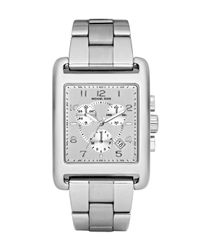 Michael Kors | Metallic Square Watch, Silver | Lyst