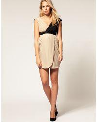 ASOS Collection - Pink Asos Maternity Colour Block Drape Dress - Lyst